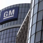 GM logo on a building