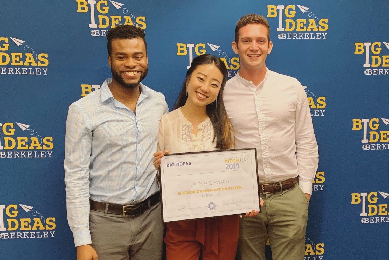 Team holding award from Big Ideas